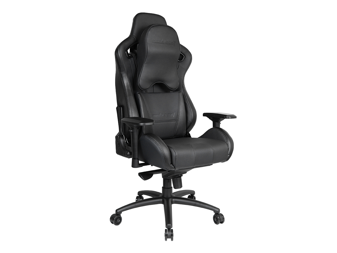 Anda Seat Dark Series High-Back Gaming Chair Recliner & Swivel 400lb with Headrest & Lumbar Support Large, Big & Tall (Black) AD12XL-DARK-B-PV-PRO