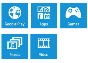 Icons for APPS & MEDIA