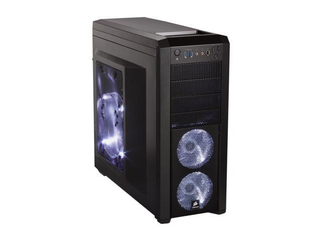 Corsair Carbide Series 500R Black Steel structure with molded ABS plastic accent pieces ATX Mid Tower Computer Case