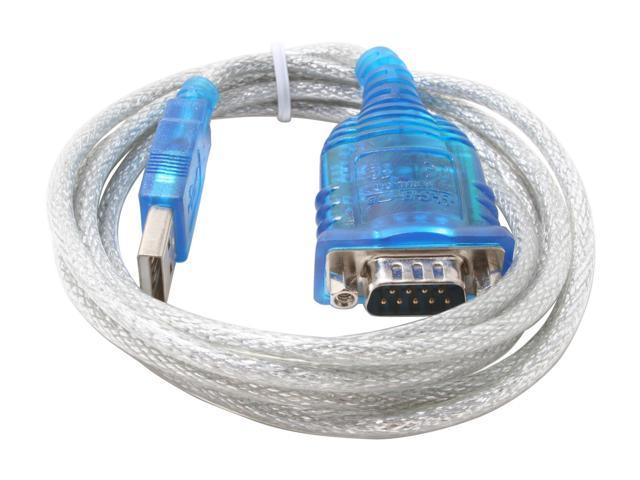 SABRENT SBT-USC6M USB SERIAL DB9 CABLE 6 PROLIFIC CHIPSET RS-232 6 FT