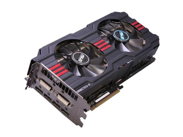 ASUS HD7970-DC2-3GD5 Radeon HD 7970 3GB 384-bit GDDR5 PCI Express 3.0 x16 HDCP Ready CrossFireX Support Video Card