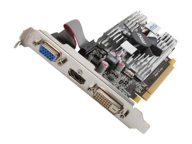 MSI R6570-MD1G/LP Radeon HD 6570 1GB 128-bit DDR3 PCI Express 2.1 x16 HDCP Ready Low Profile Ready Video Card