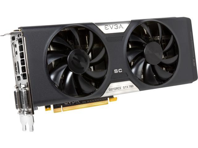 EVGA ACX Cooler 03G-P4-2784-KR G-SYNC Support GeForce GTX 780 Superclocked 3GB 384-Bit GDDR5 PCI Express 3.0 SLI Support Video Card