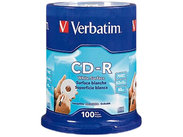 Verbatim 700MB 52X CD-R 100 Packs Spindle Disc Model 94712