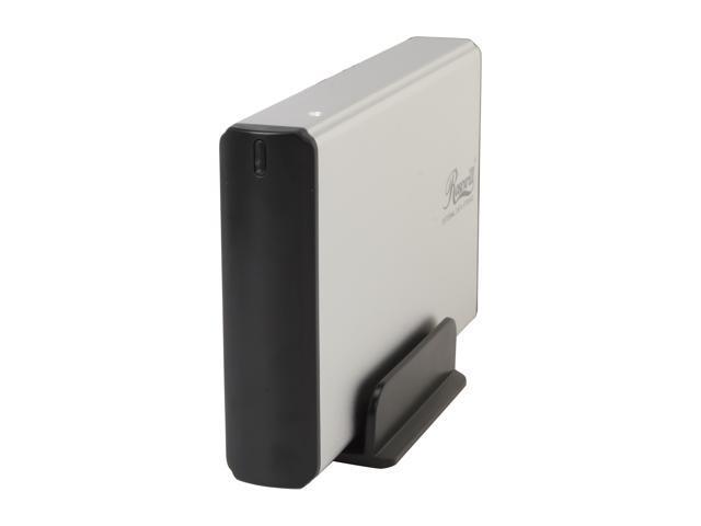 Rosewill RX35-AT-SC SLV Full Aluminum Cover - Metal Tray 3.5 inch Silver USB 2.0 & eSATA External Enclosure