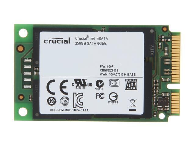 Crucial M4 CT256M4SSD3 mSATA 256GB SATA III MLC Internal Solid State Drive (SSD)