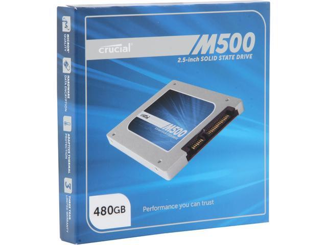 Crucial M500 480GB SATA 2.5 inch 7mm (with 9.5mm adapter) Internal Solid State Drive CT480M500SSD1