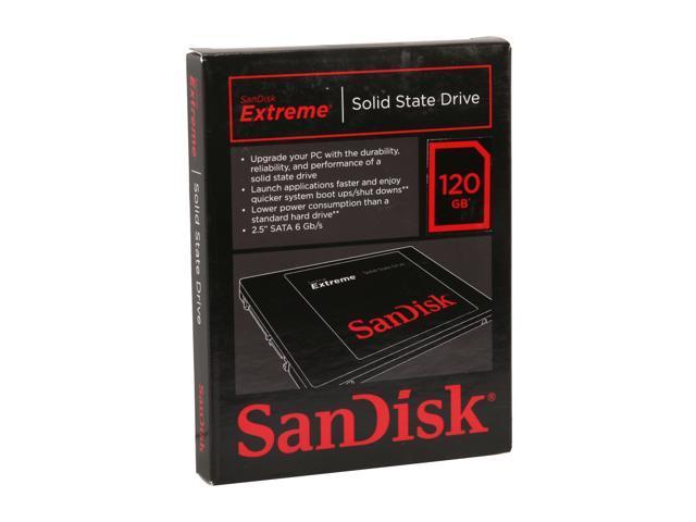 SanDisk Extreme SDSSDX-120G-G25 2.5 Inch 120GB SATA III Internal Solid State Drive (SSD)