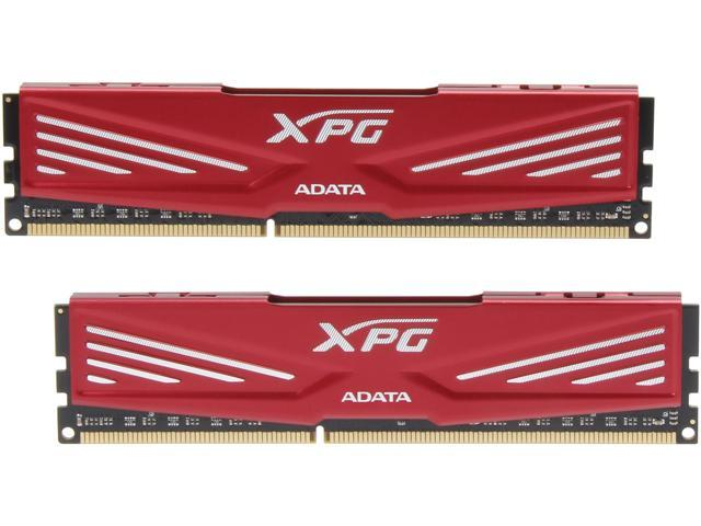 ADATA XPG V1.0 8GB (2 x 4GB) 240-Pin DDR3 SDRAM DDR3 1600 (PC3 12800) Desktop Memory Model AX3U1600C4G9-DR