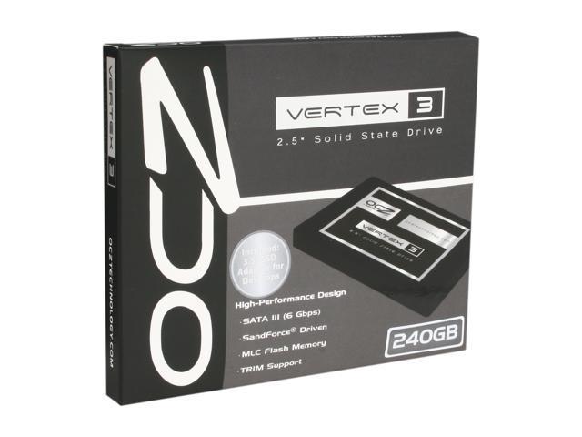 OCZ Vertex 3 VTX3-25SAT3-240G 2.5 Inch 240GB SATA III MLC Internal Solid State Drive (SSD)