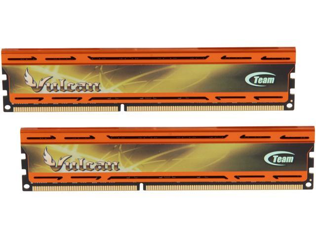 Team Vulcan 16GB (2 x 8GB) 240-Pin DDR3 SDRAM DDR3 1600 (PC3 12800) Desktop Memory (Orange Heat Spreader) Model TLAD316G1600HC10ADC01