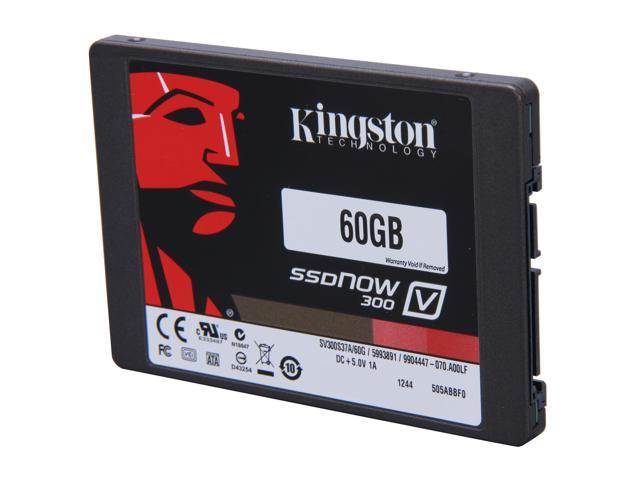 Kingston SSDNow V300 Series SV300S37A/60G 2.5 inch 60GB SATA III Internal Solid State Drive (SSD)