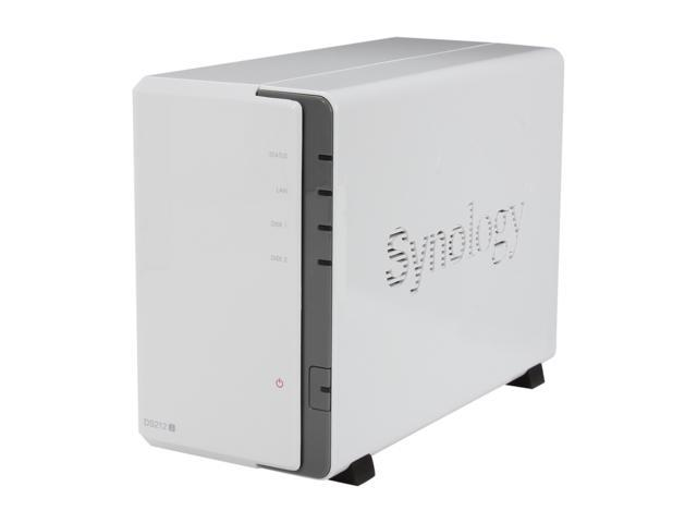 Synology DS212J Diskless System DiskStation Budget-friendly 2-bay NAS Server for Small Office and Home Use