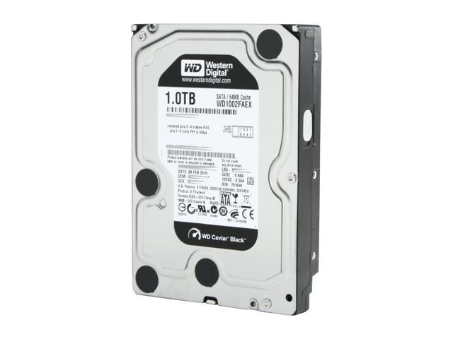 Western Digital WD Black WD1002FAEX 1TB 7200 RPM 64MB Cache SATA 6.0Gb/s 3.5 inch Internal Hard Drive Bare Drive