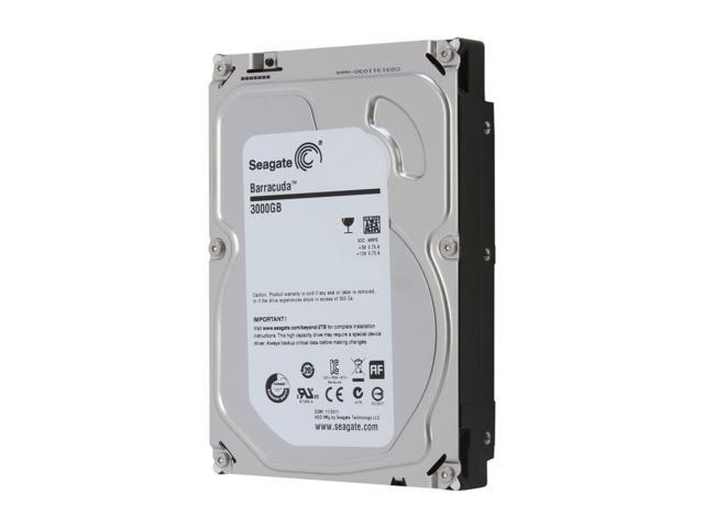 Seagate Barracuda 7200.14 ST3000DM001 3TB 7200 RPM 64MB Cache SATA 6.0Gb/s 3.5 inch Internal Hard Drive - Bare Drive