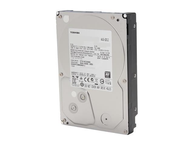 TOSHIBA DT01ACA300 3TB 7200 RPM 64MB Cache SATA 6.0Gb/s 3.5 inch Internal Hard Drive -Bare Drive
