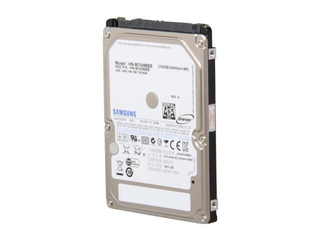 SAMSUNG Spinpoint M8 ST750LM022 750GB 5400 RPM 8MB Cache 2.5 inch SATA 3.0Gb/s Internal Notebook Hard Drive
