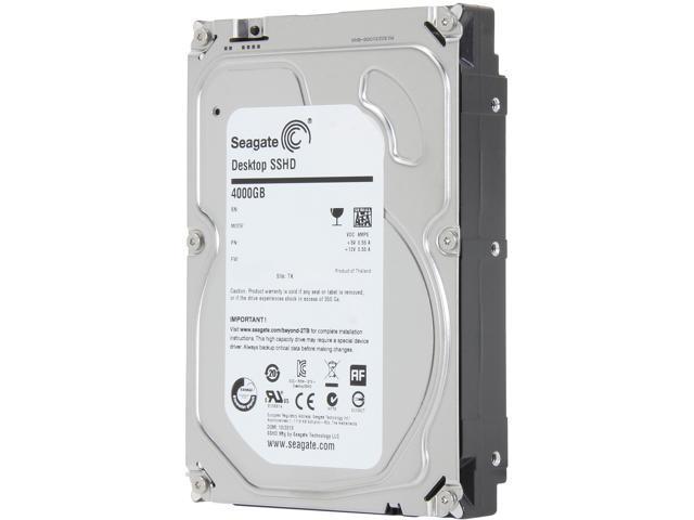 Seagate Hybrid Drive ST4000DX001 4TB MLC/8GB 64MB Cache SATA 6.0Gb/s NCQ 3.5 inch Desktop SSHD
