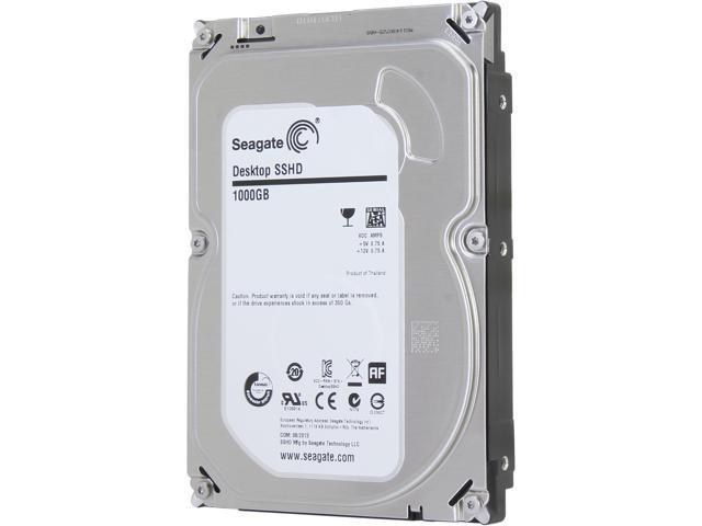 Seagate Hybrid Drive ST1000DX001 1TB MLC/8GB 64MB Cache SATA 6.0Gb/s NCQ 3.5 inch Desktop SSHD