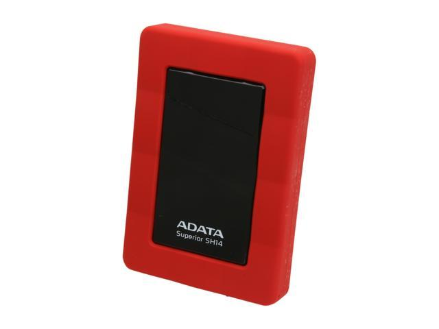 ADATA SH14 USB 3.0 500GB USB 3.0 Red Portable Hard Drive ASH14-500GU3-CRD