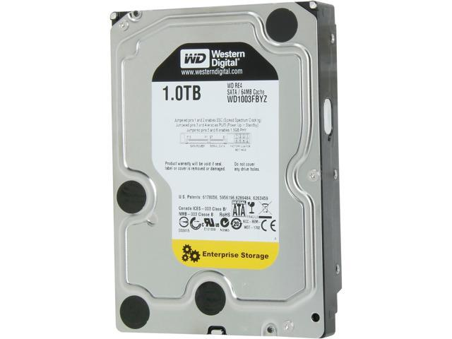 WD Re WD1003FBYZ 1TB 7200 RPM 64MB Cache SATA 6.0Gb/s 3.5 inch Enterprise Internal Hard Drive Bare Drive