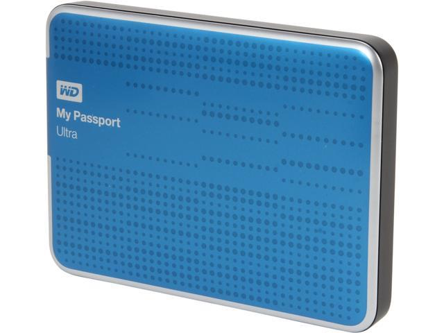 WD My Passport Ultra 1TB USB 3.0 Blue Portable Hard Drive WDBZFP0010BBL-NESN