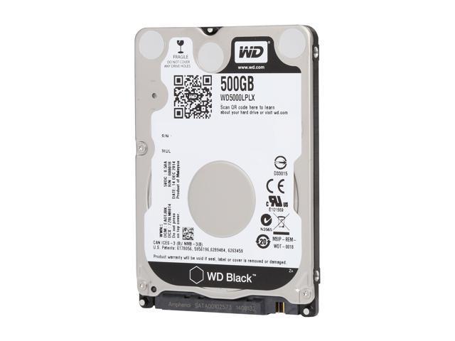 WD Black WD5000LPLX 500GB 7200 RPM 32MB Cache SATA 6.0Gb/s 2.5 inch Internal Hard Drive Bare Drive