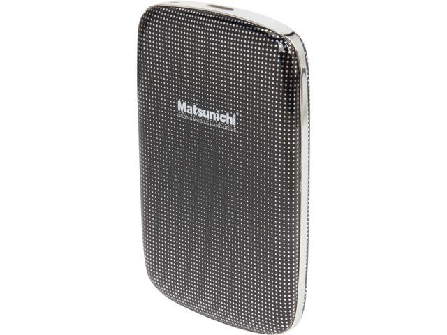 Matsunichi 1TB USB 3.0 2.5 inch Portable External Hard Drive DM256-BK-1TB Black