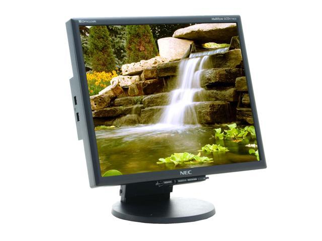 "NEC Display Solutions LCD1770GX-BK Black 17"" 8ms LCD Monitor - Retail"