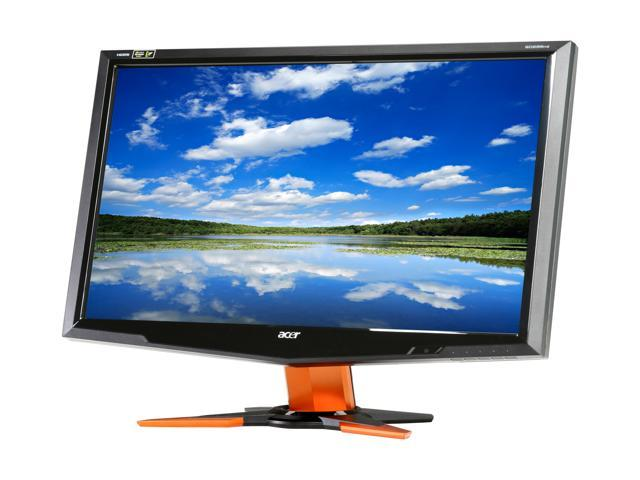 Acer GD235HZbid Black / Orange 23.6 inch 2ms(GTG) HDMI Widescreen 1080p NVIDIA LCD 120Hz 3D Monitor 300 cd/m2 ACM 80000:1