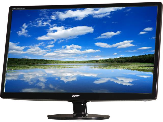 Acer S241HLbmid  Black 24 inch 5ms HDMI Widescreen LED Backlight LCD Monitor 250 cd/m2 ACM 100,000,000:1 (1,000:1) Built-in Speakers