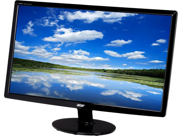 Acer S231HLBbid Black 23 inch 5ms HDMI Widescreen LED Backlight LCD Monitor 250 cd/m2 100,000,000:1 (1.000:1)