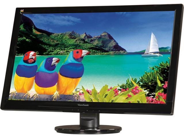 ViewSonic VA2446M-LED Black 24 inch 5ms Widescreen LED Backlight LCD Monitor 300 cd/m2 10,000,000:1 Built-in Speakers