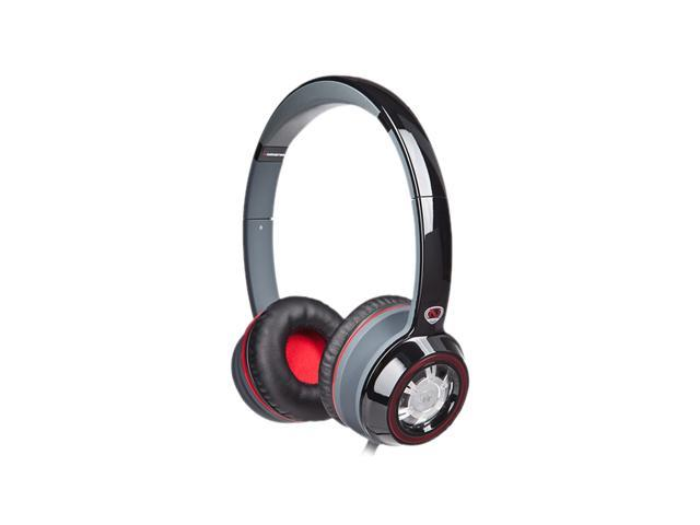 Monster NCredible NTune Black/Red NC MH NTU ON CTU WW On-Ear Headphones - Black with Red