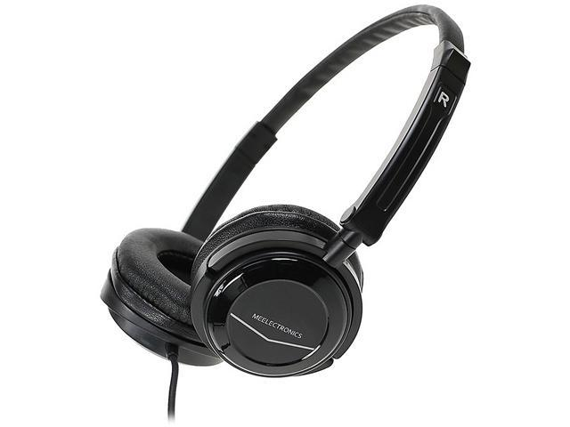 Meelectronics Black HT-21 3.5mm Connector Supra-aural High Performance Portable On-Ear Headphone (2nd Generation)