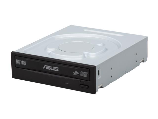 ASUS 24X DVD Burner - Bulk 24X DVD+R 8X DVD+RW 12X DVD+R DL 24X DVD-R 6X DVD-RW 16X DVD-ROM 48X CD-R 32X CD-RW 48X CD-ROM Black SATA Model DRW-24B1ST/BLK/B/AS - OEM