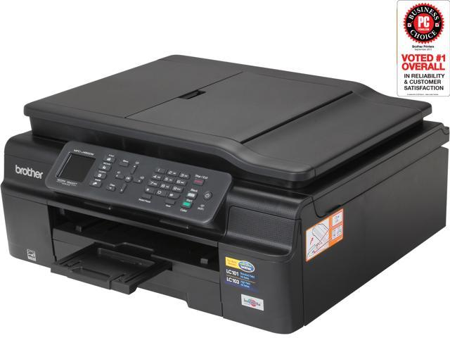 Brother MFC-J450dw Up to 33ppm (Fast Mode) Up to 12ppm (ISO/IEC 24734) Black Print Speed InkJet MFP Color Printer