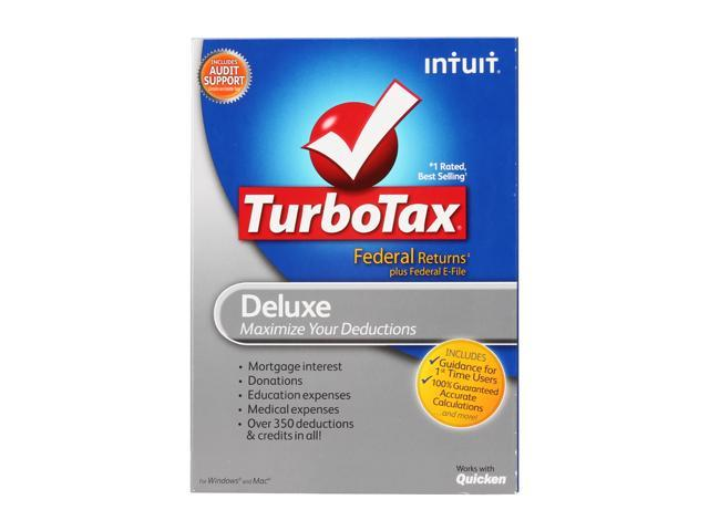 Intuit TurboTax Deluxe Federal + eFile 2011
