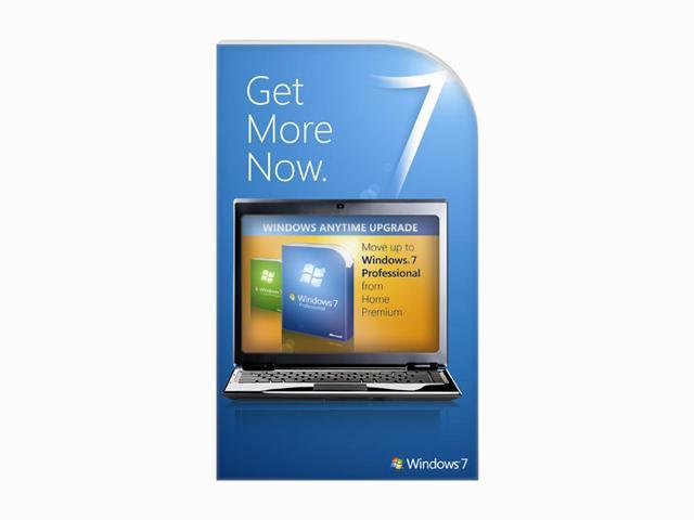 Microsoft Windows Anytime Upgrade: Windows 7 Home Premium to Professional