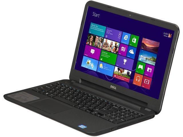 DELL Inspiron 15 (i15RV-7381BLK) Notebook Intel Core i3 3227U(1.90GHz) 15.6 inch 4GB Memory DDR3 1600 500GB HDD 5400rpm DVD±R/RW Intel HD Graphics 4000