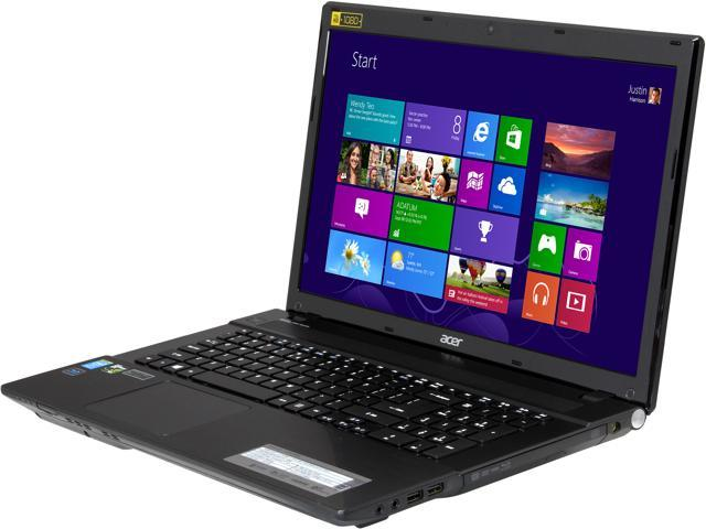 Acer Aspire V3-772G-9460 Gaming Laptop Intel Core i7 4702MQ (2.20GHz) 12GB Memory 1TB HDD 120GB SSD NVIDIA GeForce GTX 760M 2GB 17.3 inch Windows 8 64-bit