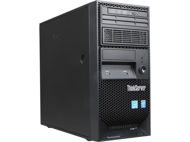 Lenovo ThinkServer TS140 Tower Server System Intel Xeon E3-1225 v3 3.2GHz 4GB No Hard Drive Operating System None 70A4001LUX