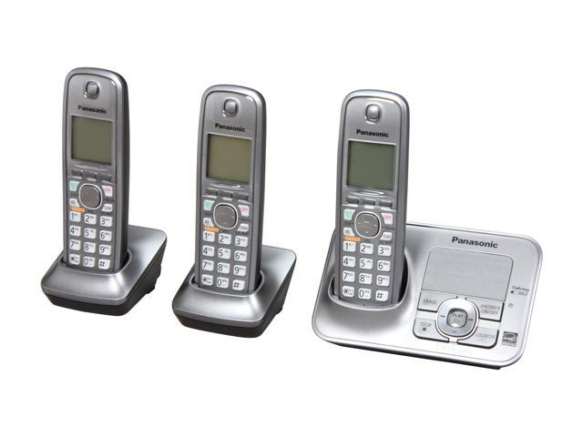 Panasonic KX-TG4133M 1.9 GHz Digital DECT 6.0 3X Handsets Cordless Phone Integrated Answering Machine