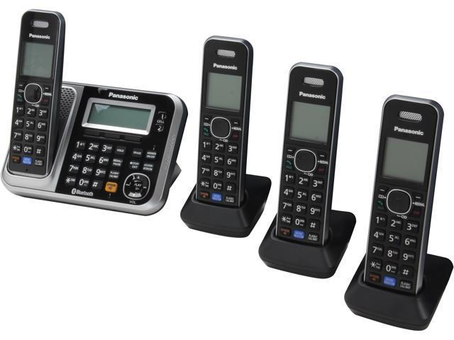 Panasonic KX-TG7874S 1.9 GHz DECT 6.0 Link to Cell via Bluetooth Cordless Phone with Integrated Answering Machine and 4 Handsets