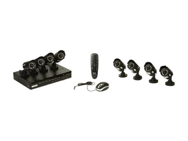 KGuard CA108-C03-500G 8 Channel H.264 Level Surveillance Kit Solution w/ 500G HDD