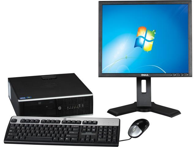 Refurbished: HP EliteDesk 8200 Small Form Factor Desktop PC Intel Core i5 3.1GHz 4GB RAM 250GB HDD Windows 7 Professional 64-Bit with 19 inch Monitor