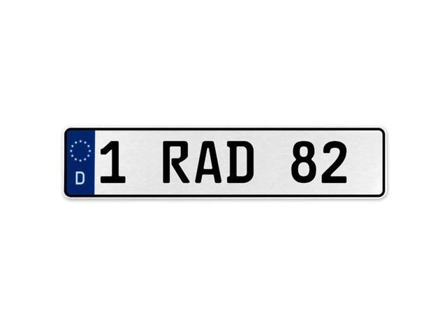 Vintage Parts 555336 1 Nice 46 White Stamped Aluminum European License Plate