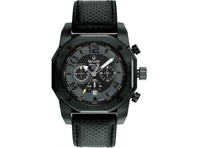 Bulova 98B151 Men's Marine Star Chronograph Black Watch