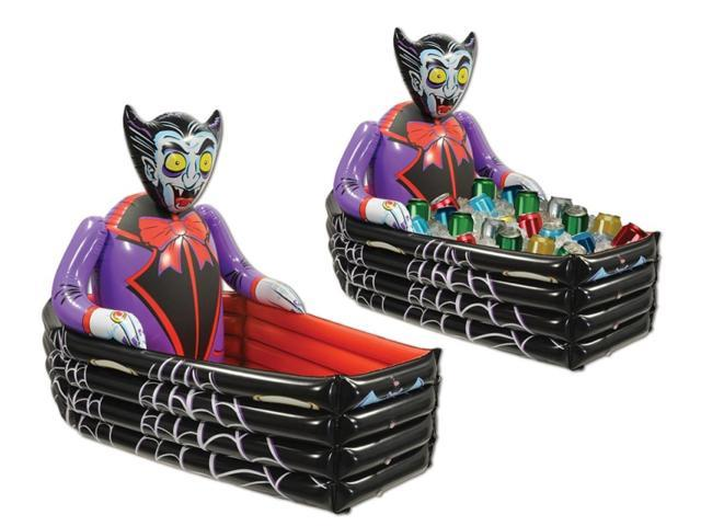 42 inflatable dracula the vampire coffin halloween cooler