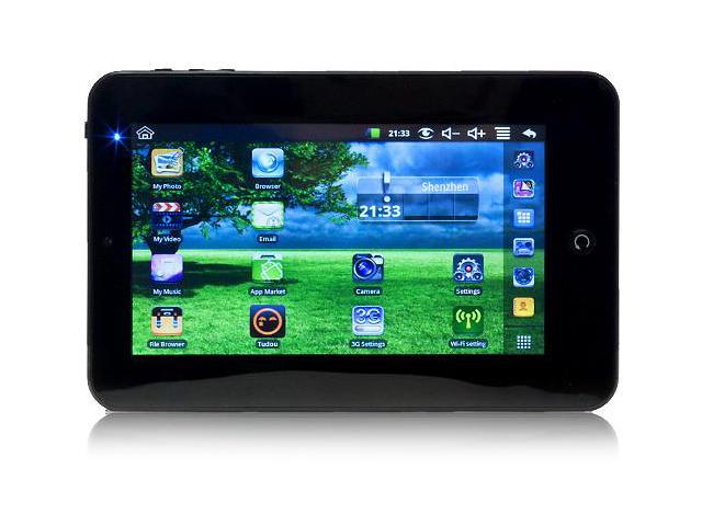 Google Android 7 Inch Touchscreen Tablet with WiFi, 3G Support, 2GB Storage Capacity and Expandable MicroSD Slot!